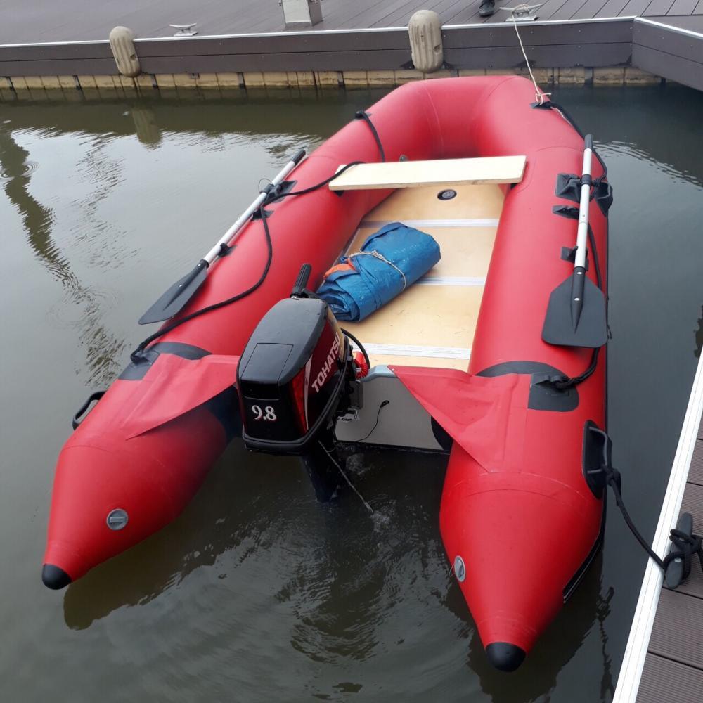 Xuồng hơi cứu hộ cao su GENEONE gắn máy ngoài Tohatsu