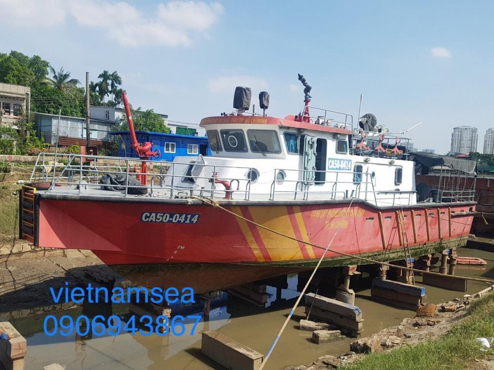 Sửa chữa tàu chữa cháy BKS CA50-0414 của Phòng PC07 cho Công An TP. Hồ Chí Minh